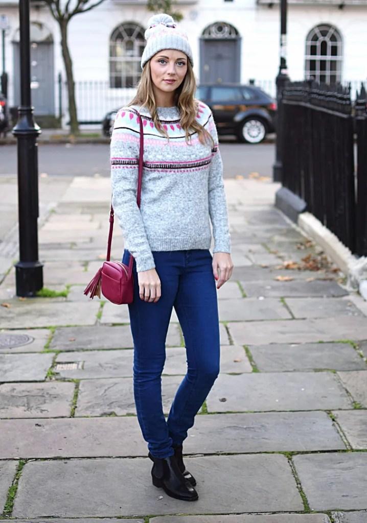 GAP fairisle sweater and bobble hat | The LDN Diaries UK Fashion Blog