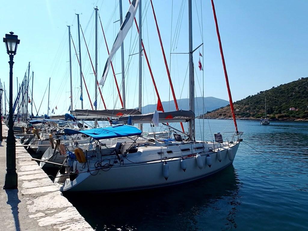 Boats in Kefalonia Greece
