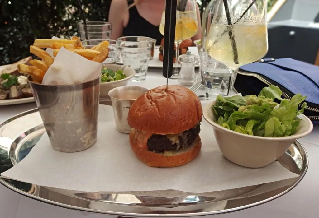 Burger at Hush Mayfair