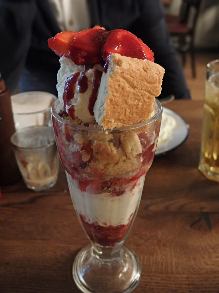 Strawberry Shortbread Sundae