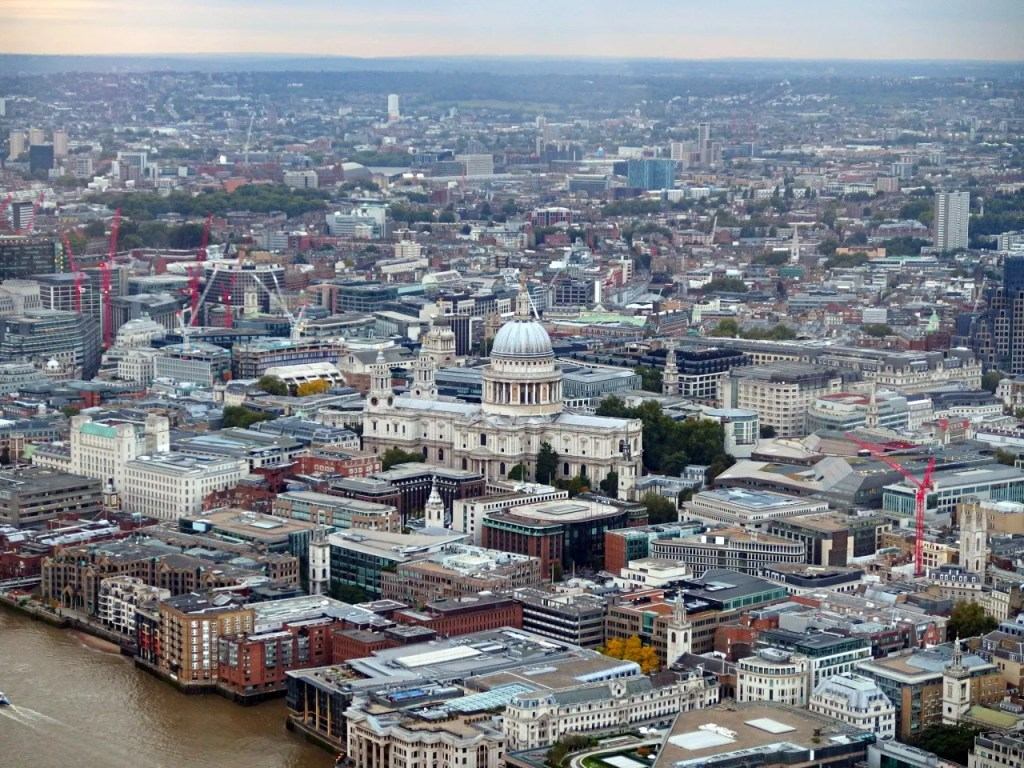 St Pauls Cathedral from the Shard