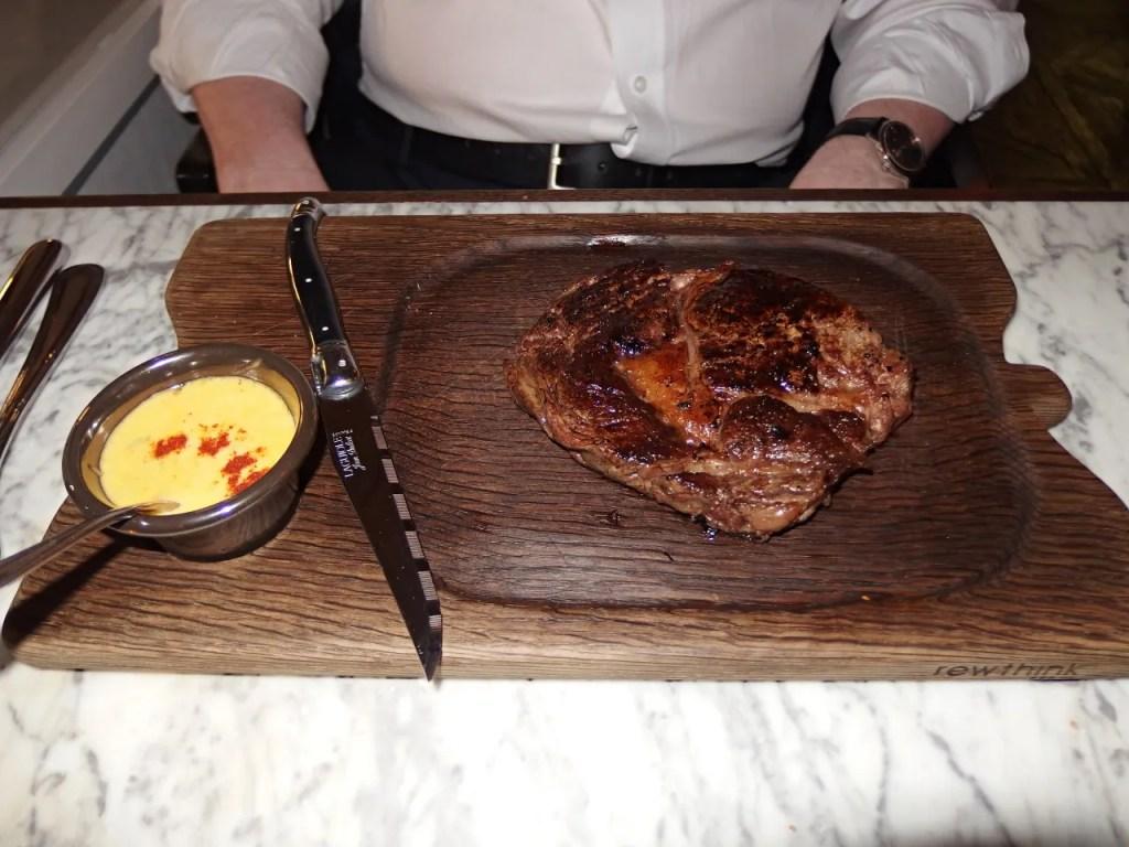 Rib-Eye Steak at Lanes of London