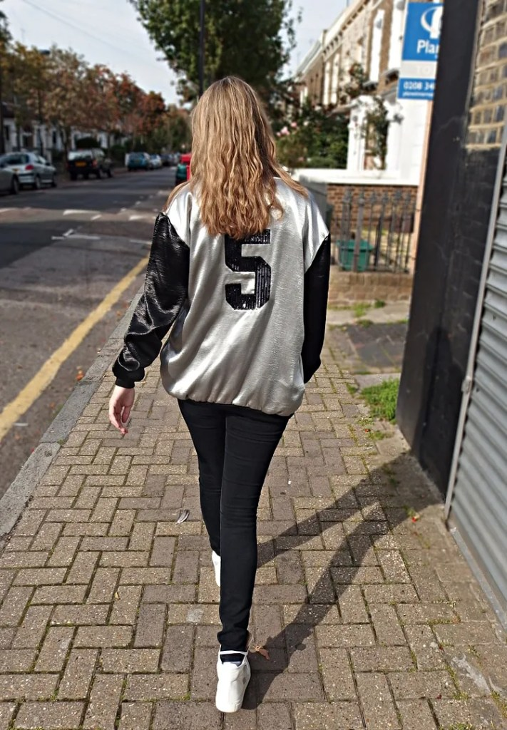 Boohoo Metallic Varsity Jacket