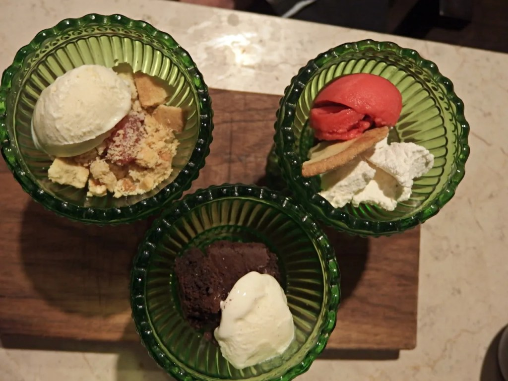 desserts at the fable