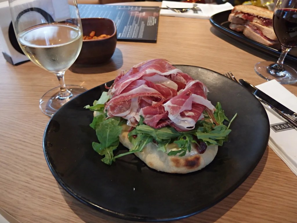 Coca Bread & Iberian Ham, Mozzarella & Rocket - The LDN Diaries