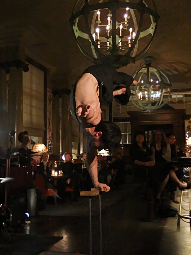 Acrobat at Scarfes Bar