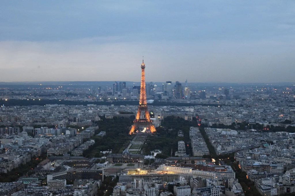 Eiffel Tower view from Montparnasse Tower