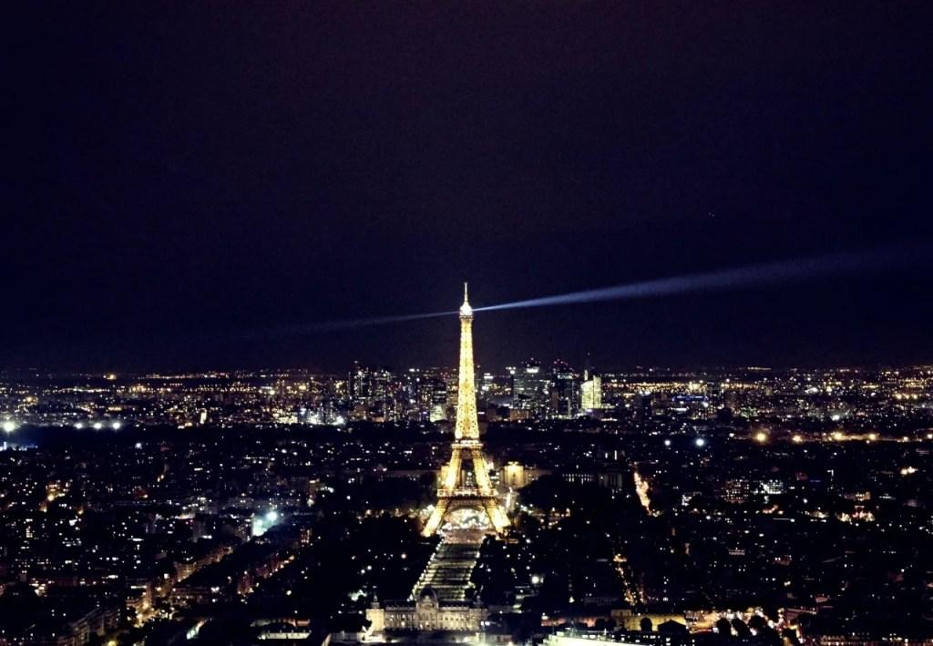 Eiffel Tower by night Paris