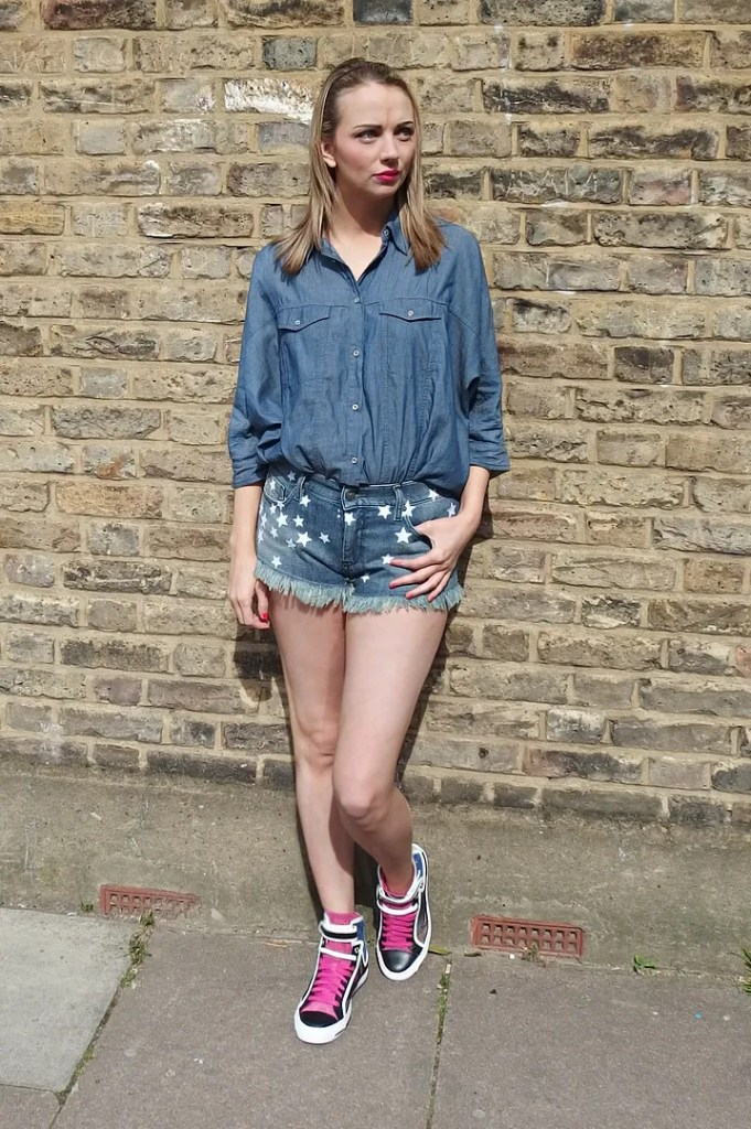 Diesel Summer Denim Star Print Shorts