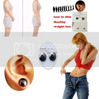 1 Pair Magnetic Healthcare Earrings Weight Loss Earring ...