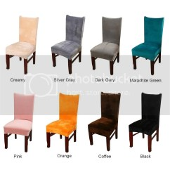 Green Dining Chair Covers Uk Workpro Office 1 2 4 6pcs Velvet Removable Slip Seat Details About Slipcovers