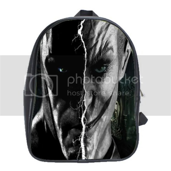 Batman Joker Arkham Asylum Comic Games Backpack Leather