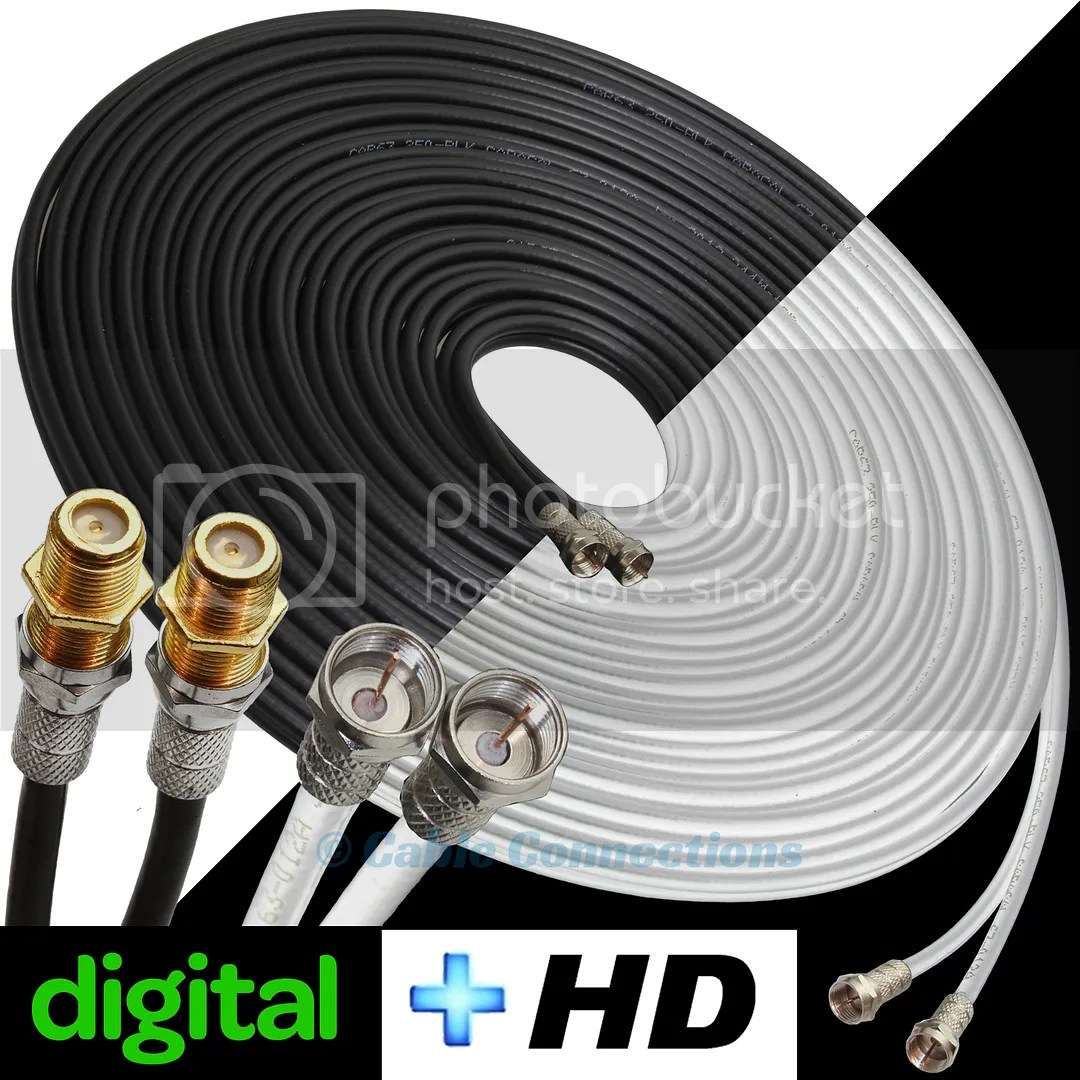 hight resolution of details about sky hd q digital tv box extension satellite dish cable double 2 wire lead wf65