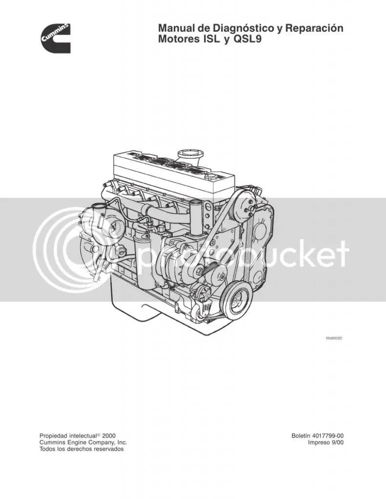 cummins engine isl wiring diagram manual spanish