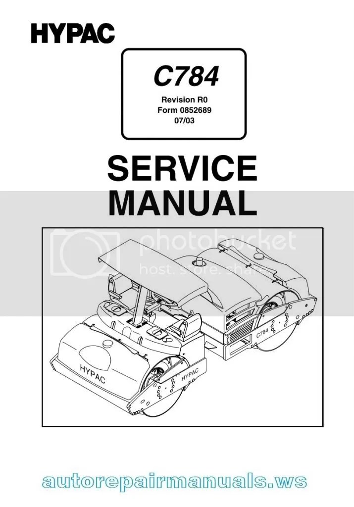 HYPAC Vibrating Roller C784 Service manual and Schematic