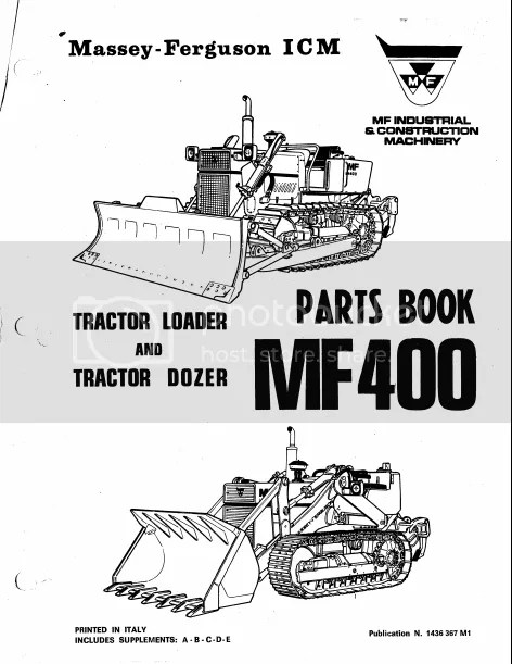 Massey Ferguson Mfd400c Crawler Dozer Parts Catalog