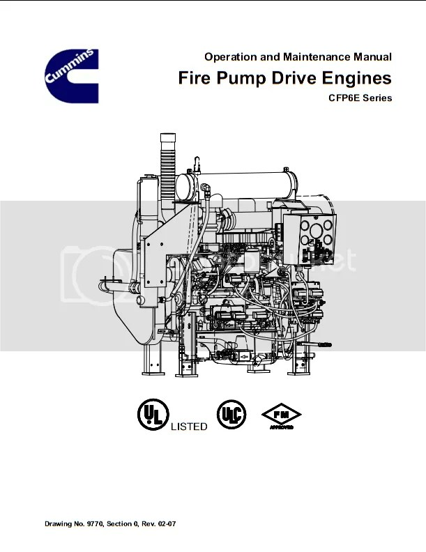 Cummins CFP6E Fire Pump Drive Engines Operation and