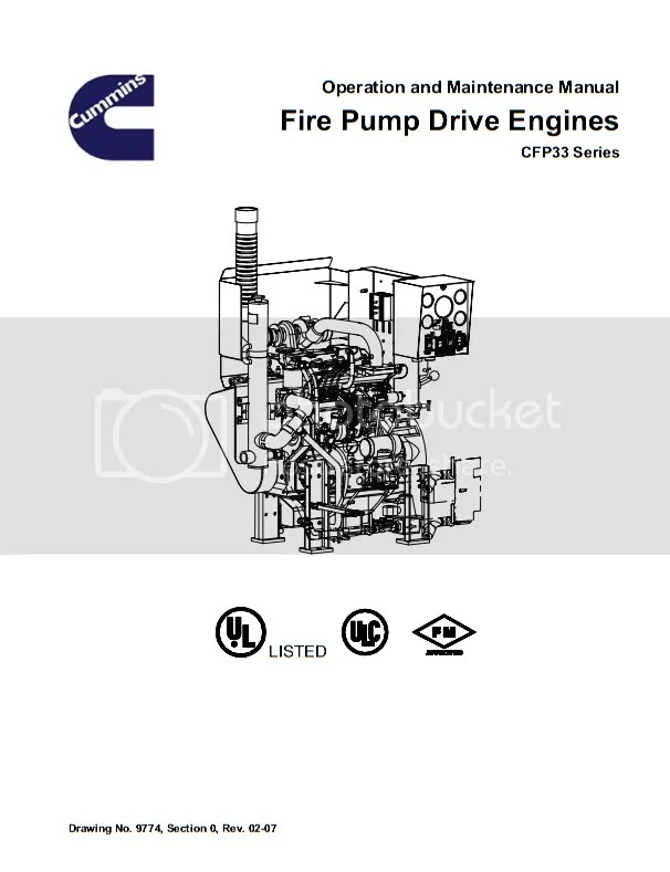 Cummins CFP33 Fire Pump Drive Engines Operation and