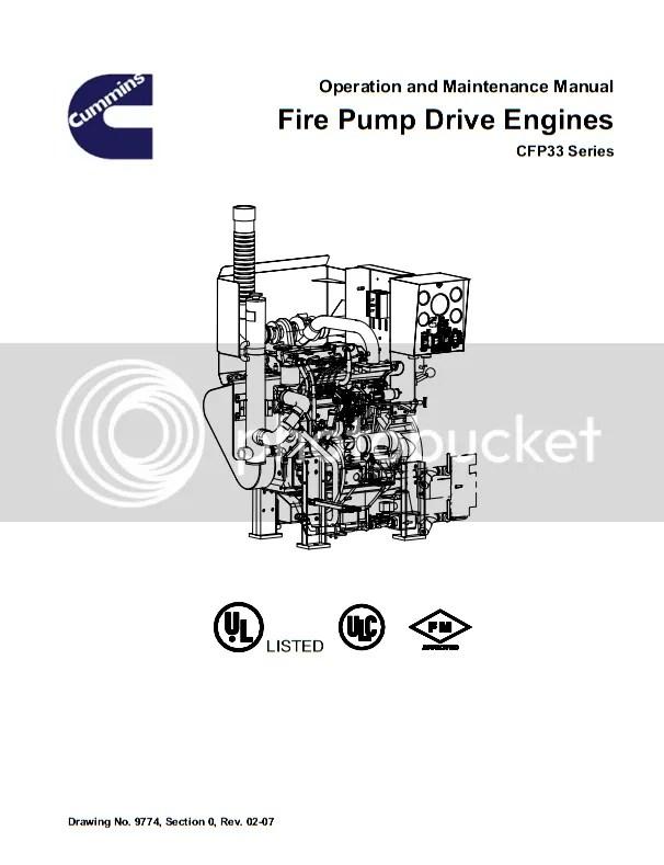 Cummins CFP33 Fire Pump Drive Engines Operation and