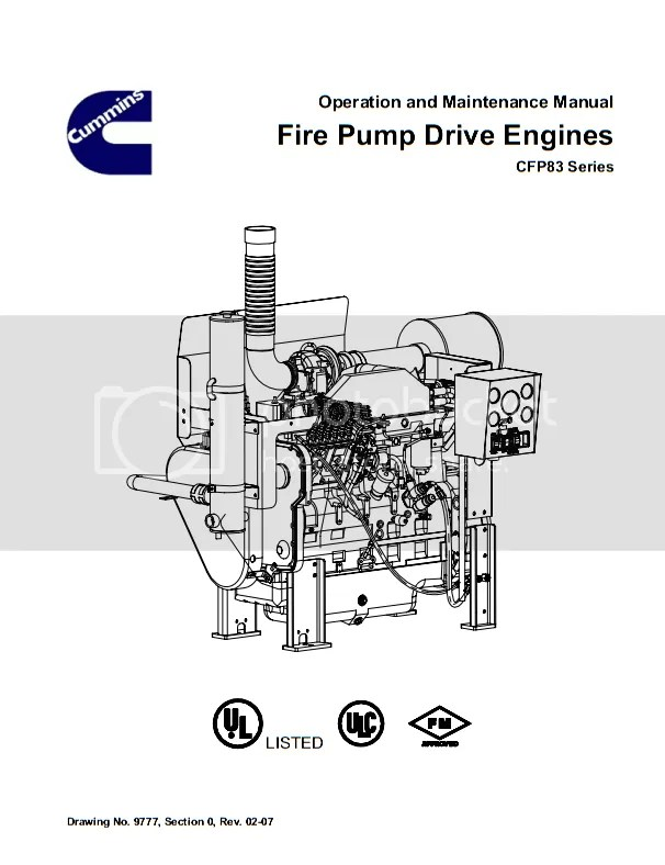 Cummins CFP83 Fire Pump Drive Engines Operation and