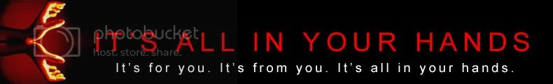 It's All In Your Hands Banner