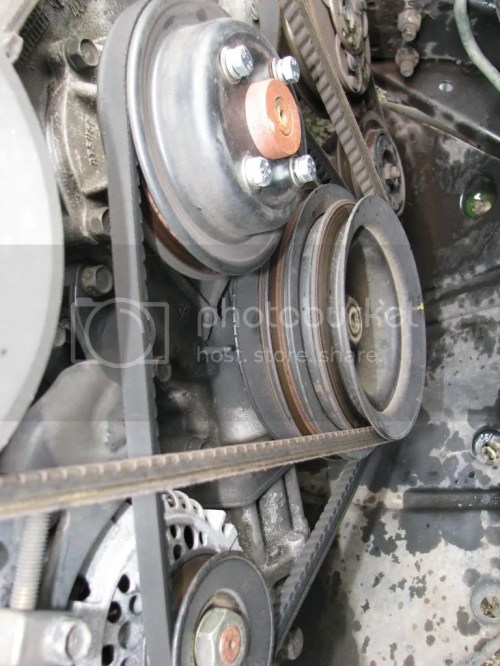 small resolution of  ignore that yellow mark on the outside of the front crankshaft pulley someone had previously had it off and reinstalled it 180 degrees off from the