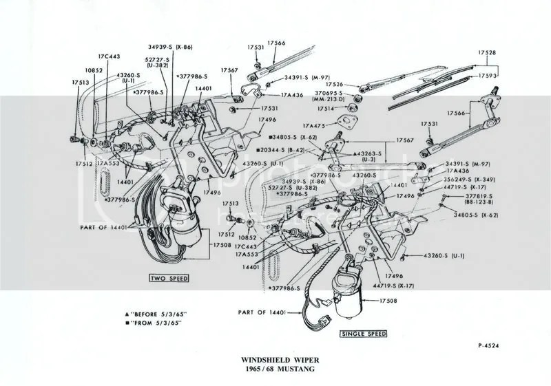 65 Mustang Wiper Motor Diagram, 65, Free Engine Image For