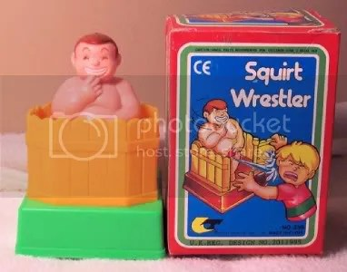 Here for your consideration is this still new in the box Peeing wrestler.