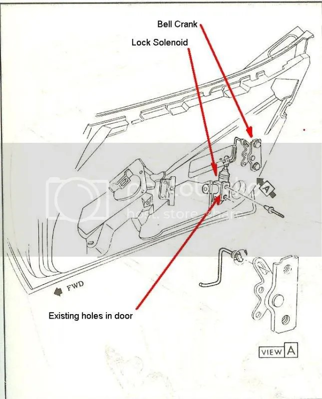 C3 Corvette Power Door Locks Wiring Diagram
