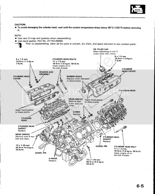 Service manual [1988 Acura Legend Replacing Valve Cover