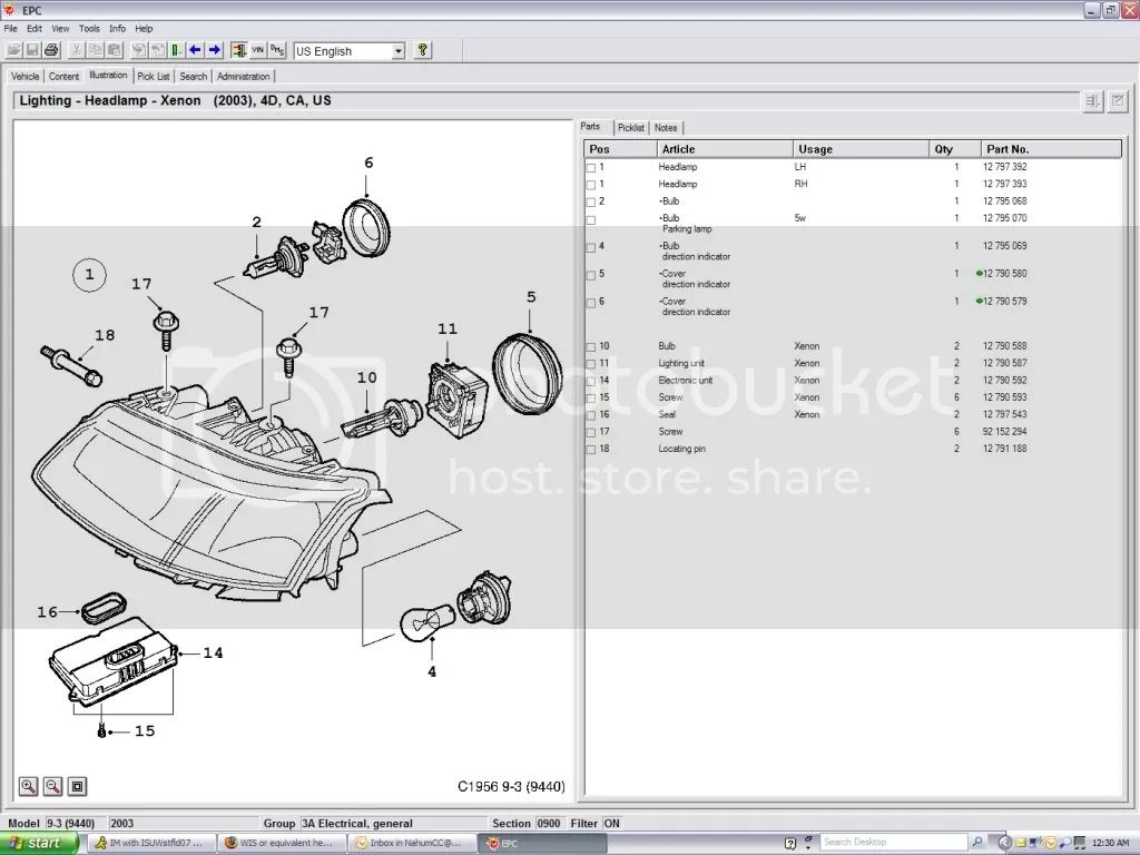 wis or equivalent headlight diagram the saab link forums