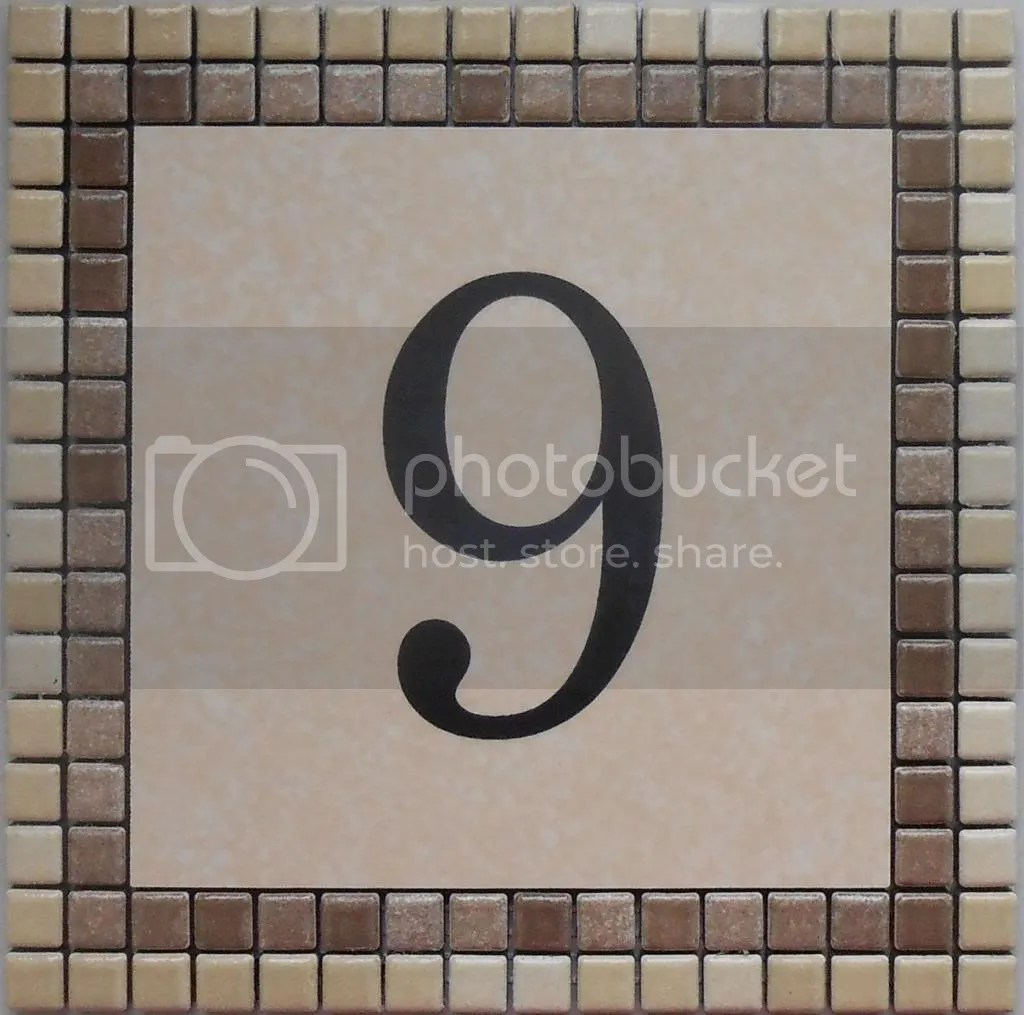 PROMOZIONE Numero civicovia incisi su piastrella di ceramica e mosaico 20x20cm  eBay