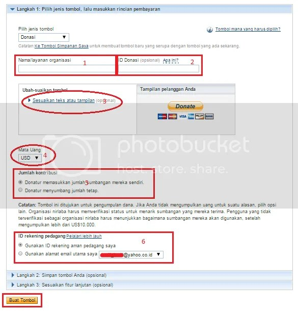 Cara membuat tombol Donasi/Donate di Blogger