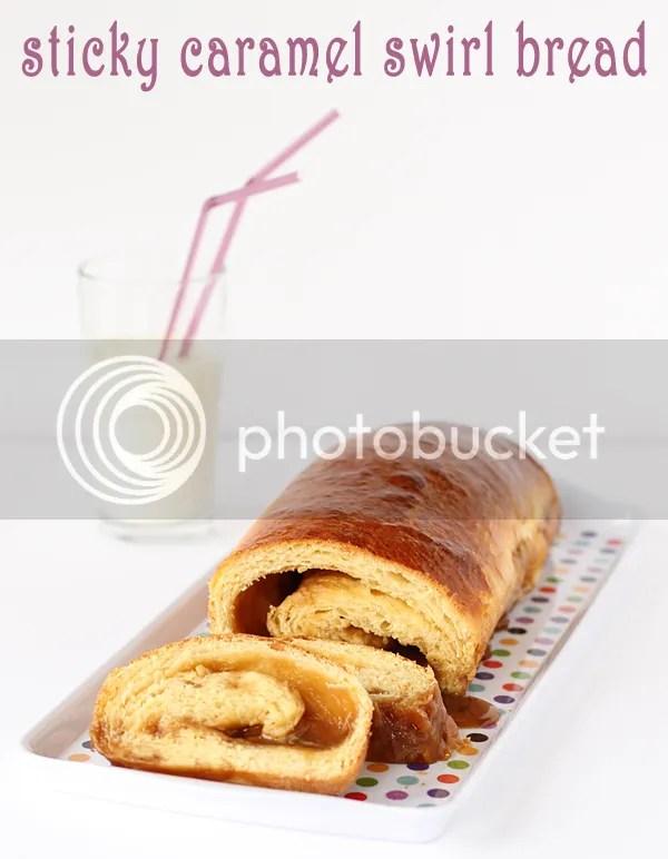 Sticky caramel swirl bread