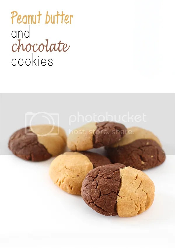Peanut butter & chocolate cookies