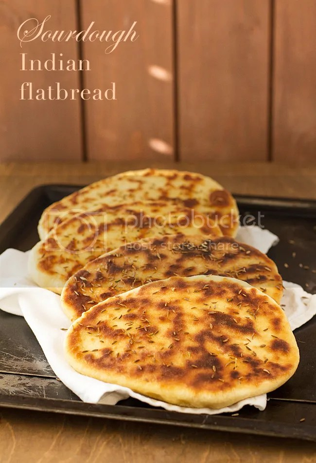Sourdough Indian flatbread