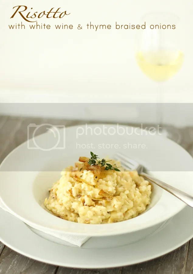 Risotto with white wine & thyme braised onions