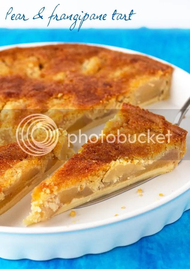 Pear & frangipane tart