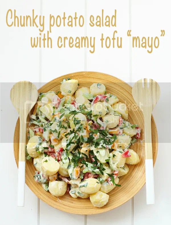 Chunky potato salad with creamy tofu mayo