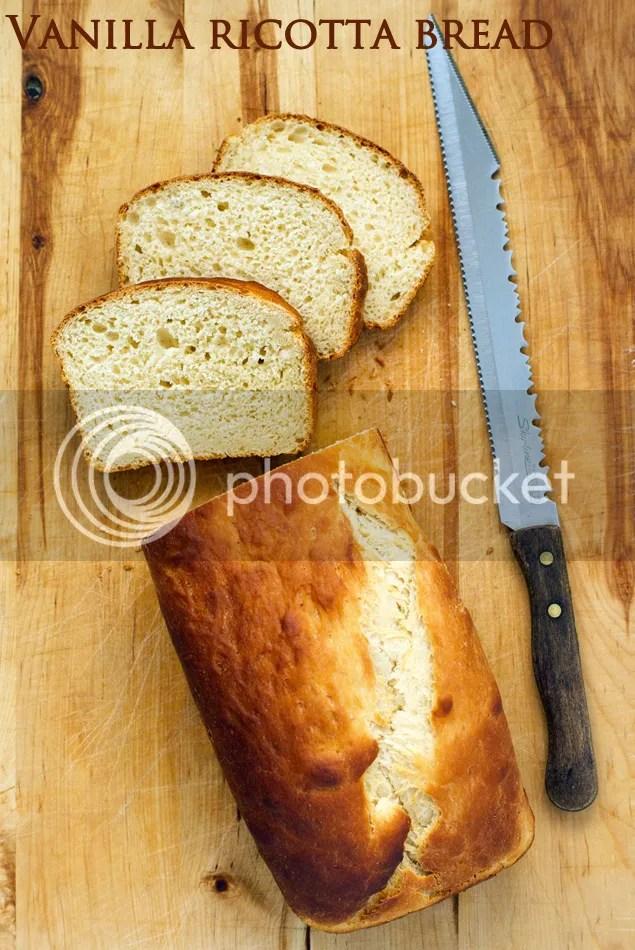 Vanilla ricotta bread