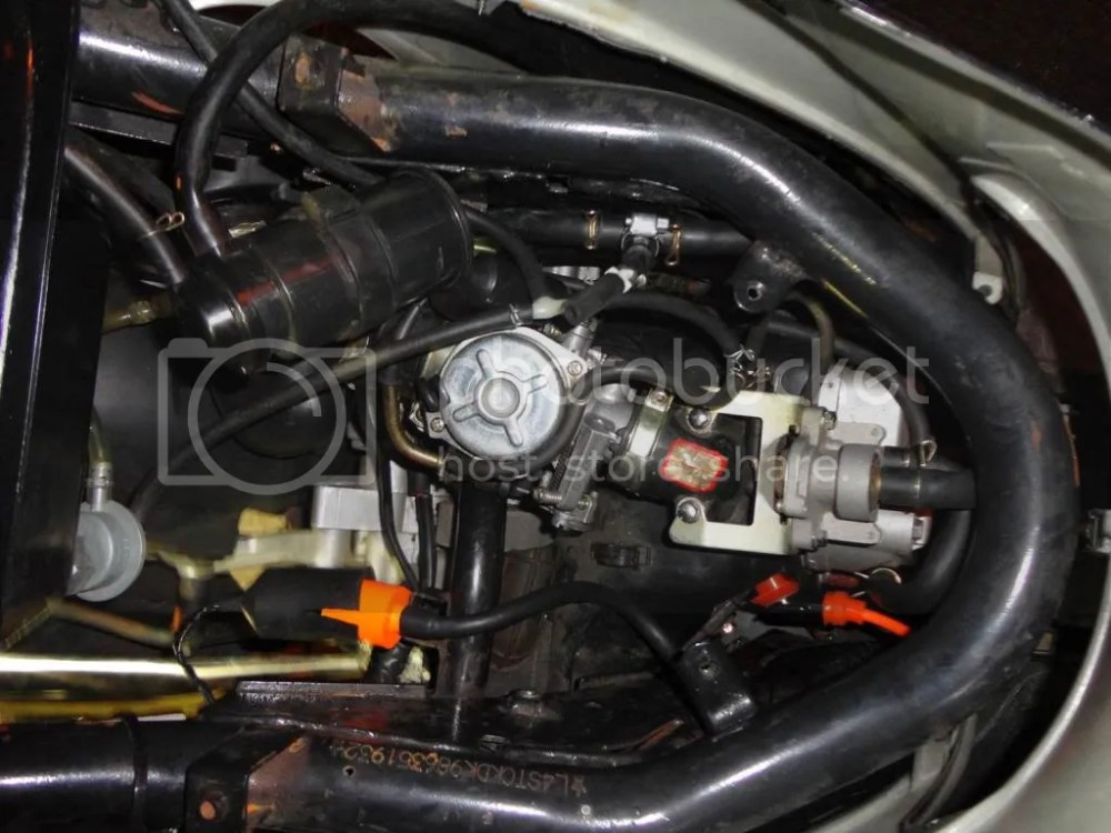 medium resolution of here s an entire picture of the engine bay to give a good view of all the vacuum lines etc the emissions control diaphram thing etc