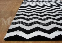 zig zag rug black and white  Roselawnlutheran