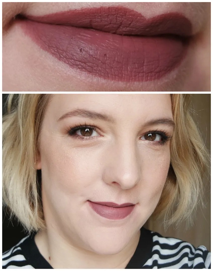Anastasia Beverly Hills liquid lipstick review swatch dusty rose veronica heathers