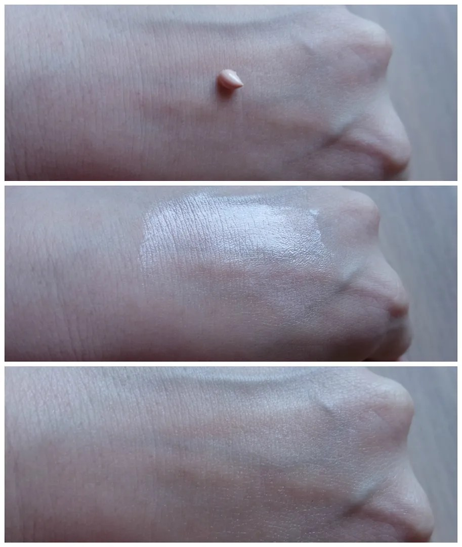 Essence Fresh & fit Primer review swatch