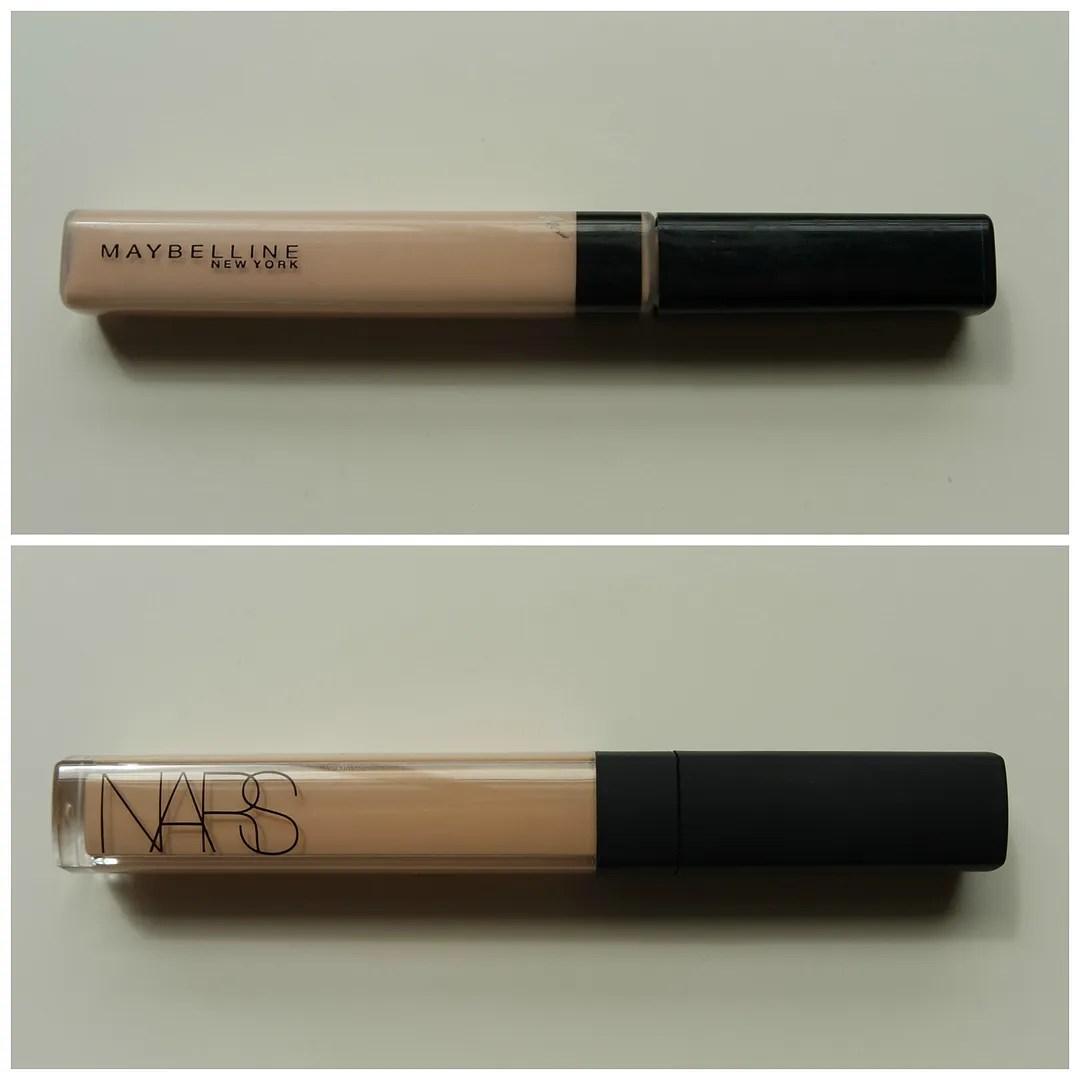 Maybelline Fit Me vs Nars Radiant Creamy concealer