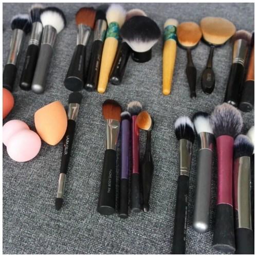 makeup declutter brushes makeup tools