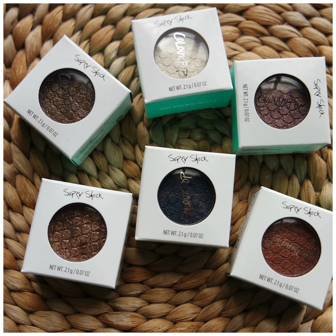 Colourpop supershock eyeshadow cream review swatch rex valley girl nillionaire boyband cricket far side cricket
