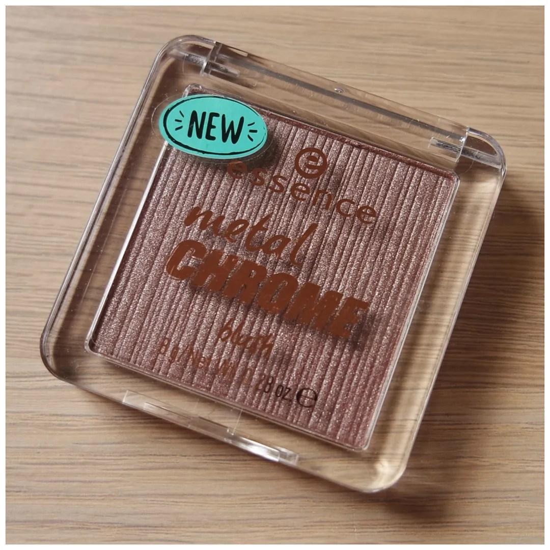 essence metal chrome blush review swatch copper crush