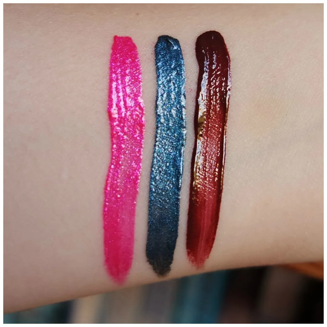 essence metal shock vibrant shock lip paint lipstick liquid lip lilly of the valley belladonna red viper