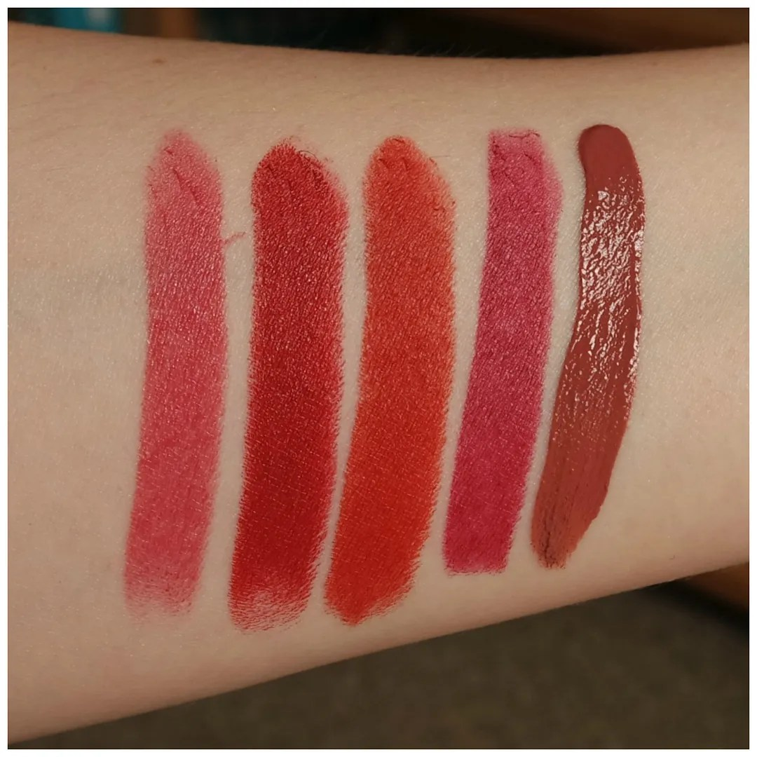 favorite fall lipsticks bite beauty mac charlotte tilbury mac catrice nyx